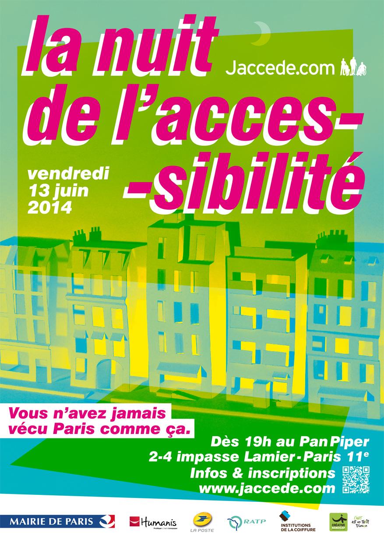 visuel de la Nuit de l'accessibilité 2014
