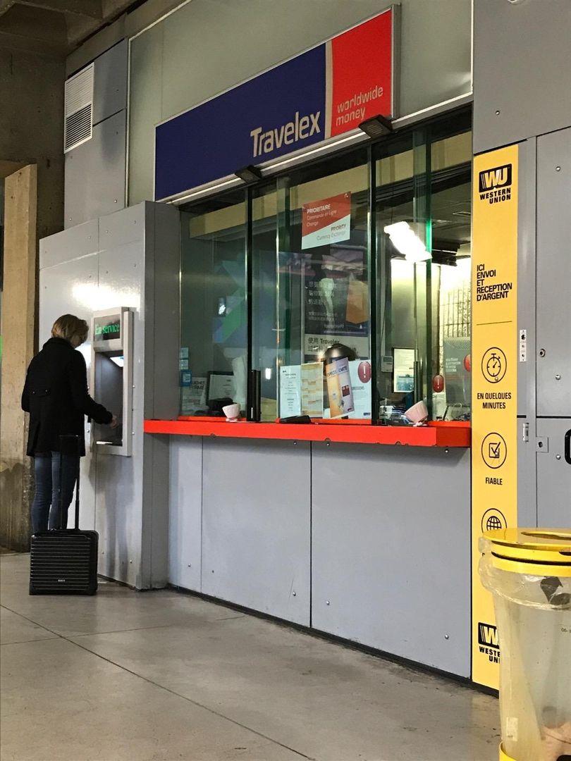 Photo of the April 13, 2017 2:15 PM, Travelex Gare Montparnasse, Niveau départ grande ligne Paris, Gare Montparnasse, 75015 Paris, France